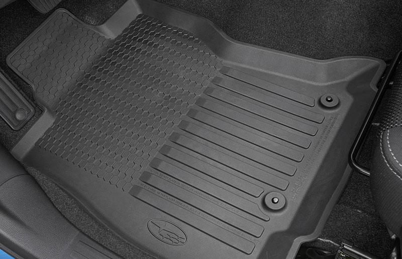 Subaru high wall rubber floor mats
