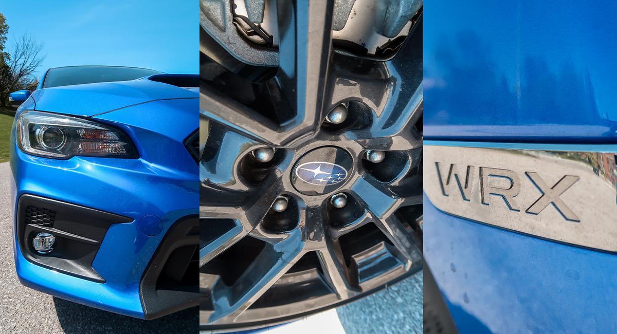 Subaru WRX wheels headlights