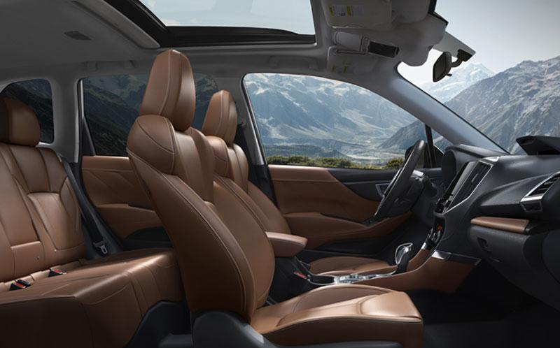 Interior of Subaru Forester